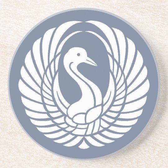 symbol of beautiful crane コースター