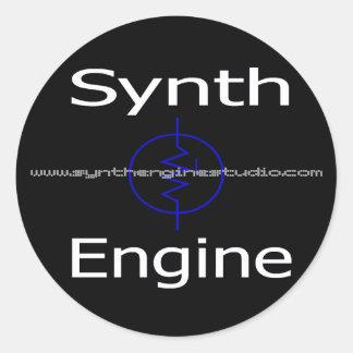 """Synthエンジン3""""置かれるステッカー(x6) ラウンドシール"""