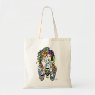 Synthea Psytrance DJの虹の妖精の入れ墨のトートバック トートバッグ