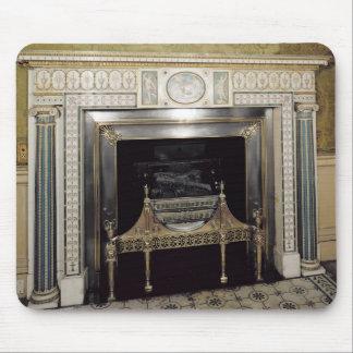 Syonの家、ミドルセックス、c.1760からの暖炉 マウスパッド