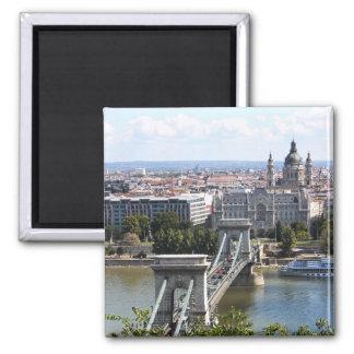 Szechenyiの鎖式吊り橋、ブダペスト、ハンガリー マグネット