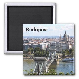 Szechenyiの鎖式吊り橋、ブダペスト、ハンガリー、Buda… マグネット