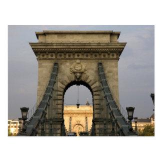 SzechenyiのlanchidのSzechenyiの鎖式吊り橋)、 ポストカード