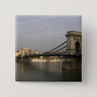 SzechenyiのlanchidのSzechenyiの鎖式吊り橋)、2 5.1cm 正方形バッジ