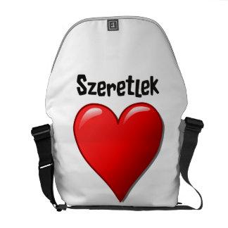 Szeretlek - I愛ハンガリー語の クーリエバッグ