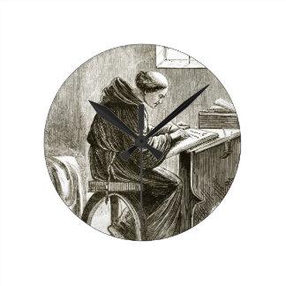 「TからのFerinsの彼の細胞のSt.ヴィンチェンツォの執筆、 ラウンド壁時計