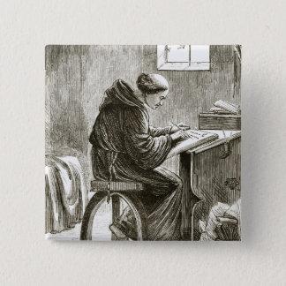 「TからのFerinsの彼の細胞のSt.ヴィンチェンツォの執筆、 5.1cm 正方形バッジ