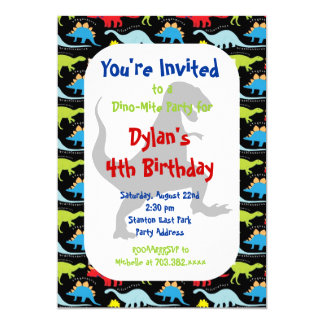 Tのレックスの恐竜のバースデーパーティ招待状 カード