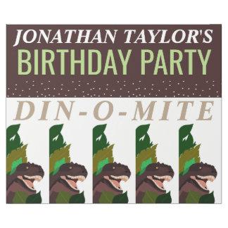 Tのレックスの恐竜のパーティーの子供の誕生日 ラッピングペーパー