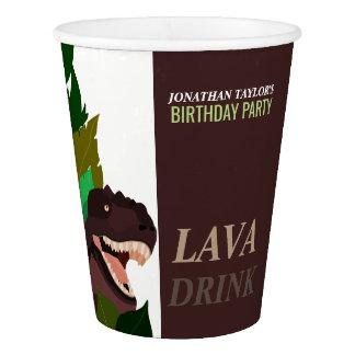 Tのレックスの恐竜のパーティーの子供の誕生日 紙コップ