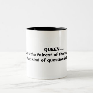 tの最も公平はだれ…であるか女王..... ツートーンマグカップ