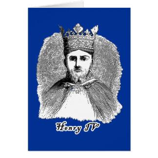 Tシャツおよびギフトの王ヘンリー四世のポートレート カード