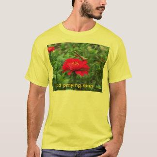 Tシャツか祈るカマキリ及び《植物》百日草 Tシャツ