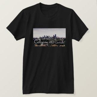 Tシャツのカルガリー黒いアルバータのファンキーな写真撮影 Tシャツ