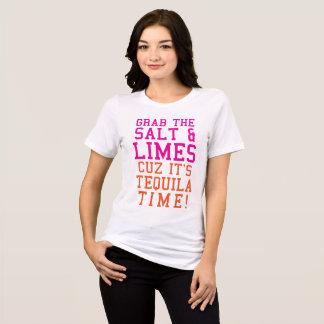 Tシャツのグラブは塩それによってがテキーラの時間であるCuzを石灰で消毒します Tシャツ
