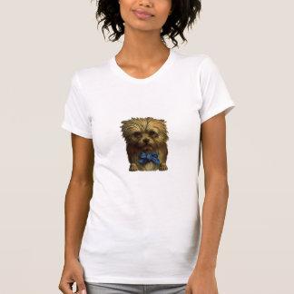 Tシャツのデザインのヴィンテージ甘くかわいいテリア犬の子犬 Tシャツ