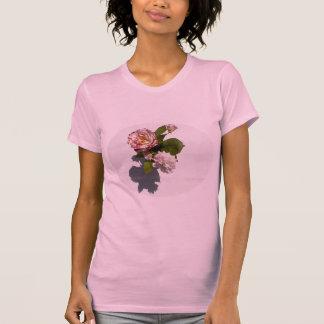 Tシャツのピンクのバラ Tシャツ