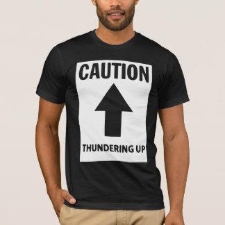 Tシャツの上で雷が鳴る注意 Tシャツ