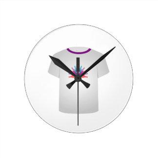 Tシャツの型板のパーティ ラウンド壁時計