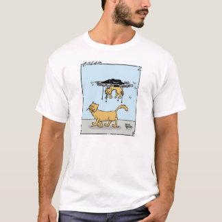 Tシャツの子ネコを運ぶ無人機の漫画 Tシャツ