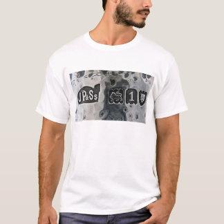 Tシャツの打たれた銀の銀製の認刻極印のロゴ Tシャツ