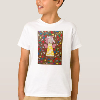 Tシャツの操作のlichtbruinのondergrondのengelはgeelに会いました Tシャツ