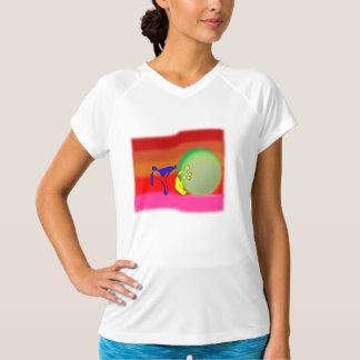Tシャツのcapoeiraの武道の虹の斧のabada Tシャツ