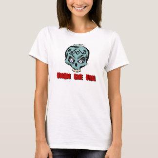 Tシャツのebolaのブードゥーによって行くウイルスのティール(緑がかった色)のスカルの病気 Tシャツ