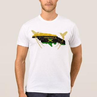 Tシャツをぶんぶんいうジャマイカの教区色の金ゴールド Tシャツ