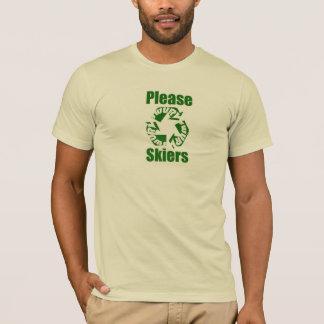 Tシャツをリサイクルしているスキーヤー Tシャツ