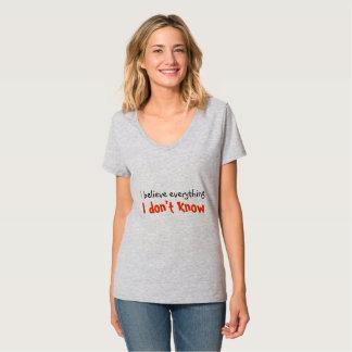 - Tシャツを知らないで下さい Tシャツ