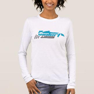Tシャツを競争させる女性の長袖のWolert 長袖Tシャツ