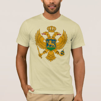 Tシャツモンテネグロの紋章付き外衣 Tシャツ