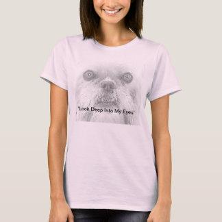 Tシャツ犬のブリュッセルGriffonの目 Tシャツ