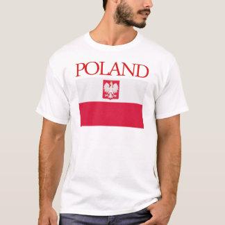 Tシャツ紋章付き外衣が付いているポーランドの旗 Tシャツ