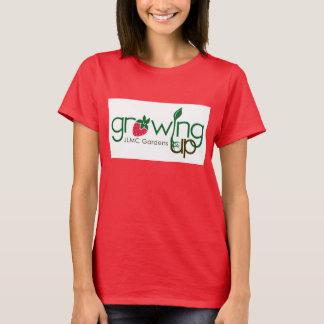Tシャツ育つことは庭いじりをします Tシャツ