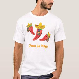 Tシャツ、チリペッパー、Cinco deメーヨー Tシャツ