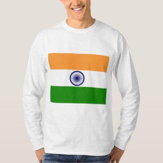 Tシャツ、フード付きスウェットシャツ、服装のインドの旗 Tシャツ