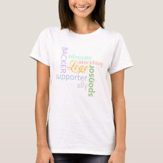 Tシャツ-女性によって後援される Tシャツ