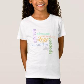 Tシャツ-子供によって後援される Tシャツ