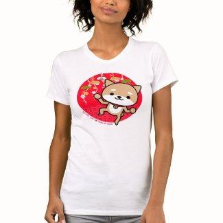 Tシャツ-子犬-日本のな赤