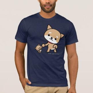 Tシャツ-詰まったな子犬を持つ子犬 Tシャツ