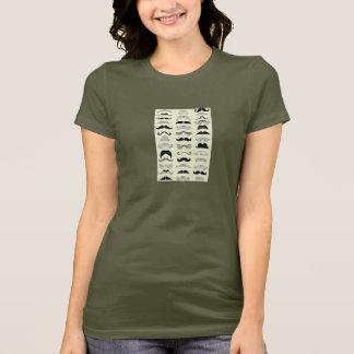 Tシャツ、髭、女性 Tシャツ