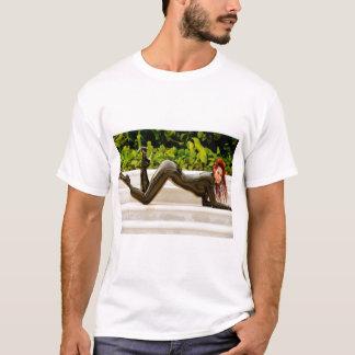 Tシャツ-黒いCatsuit - Bianca Beauchamp Tシャツ