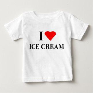 Tシャツ- I愛アイスクリーム ベビーTシャツ