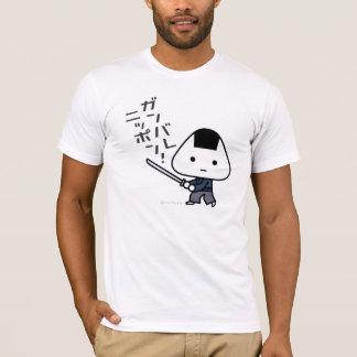 Tシャツ- Riceballの武士- Ganbare日本 Tシャツ