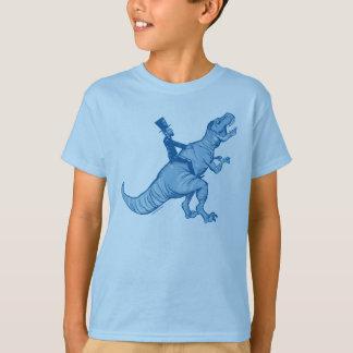 Tレックスに乗るAbeリンカーンはTシャツをからかいます Tシャツ
