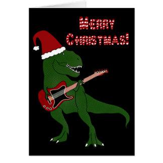Tレックスのギターのクリスマスカード カード