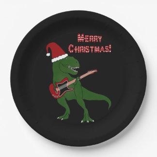 Tレックスのギターのクリスマス ペーパープレート