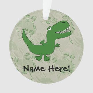 Tレックスのティラノサウルス・レックスのレックスの恐竜の漫画は男の子をからかいます オーナメント